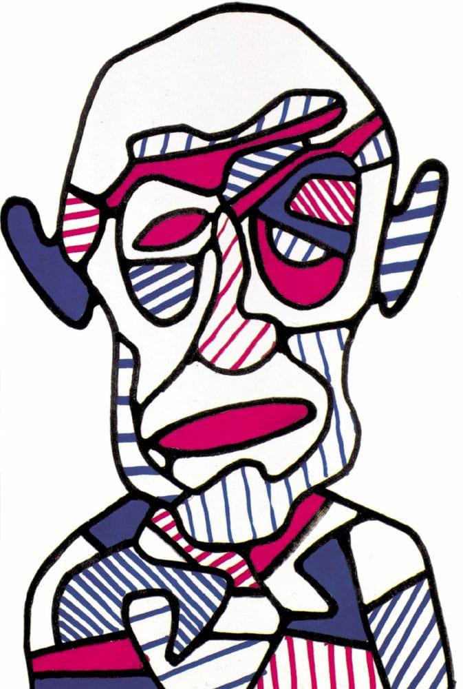 Jean Dubuffet - 1966 (Autoportrait VI m267)