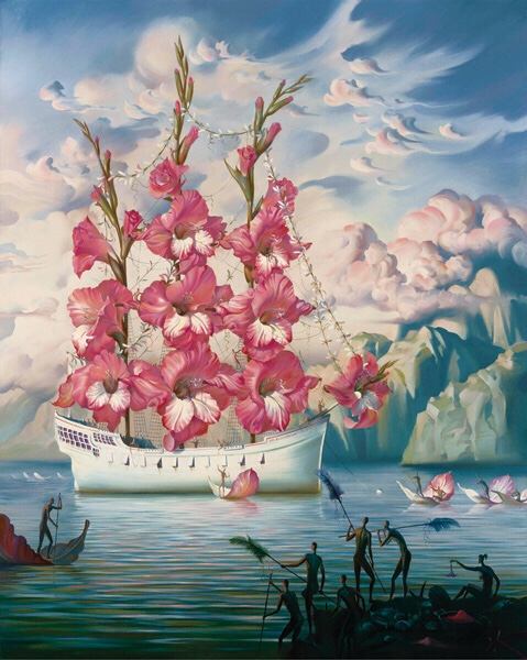 Arrival of the flower ship – Vladimir Kush