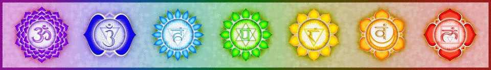 Grafik bunt die sieben - 7 - Chakren - Chakra Symbol
