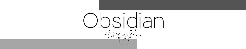Obsidian Edelstein Kollektion aus schwarzem Vulkan