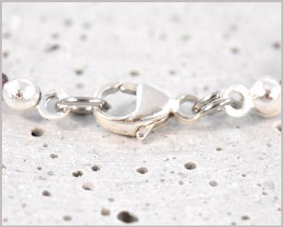 Verschluß Edelstein Armband in 925 Silber