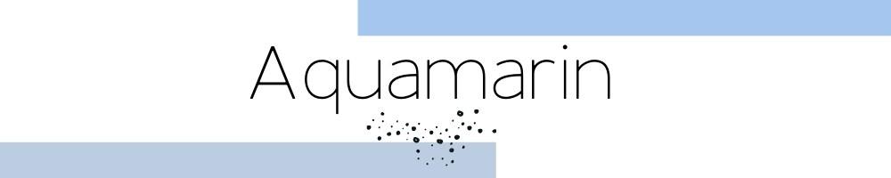 Aquamarin Eedelstein Schmuck Kollektion im Shop Cathy Thica