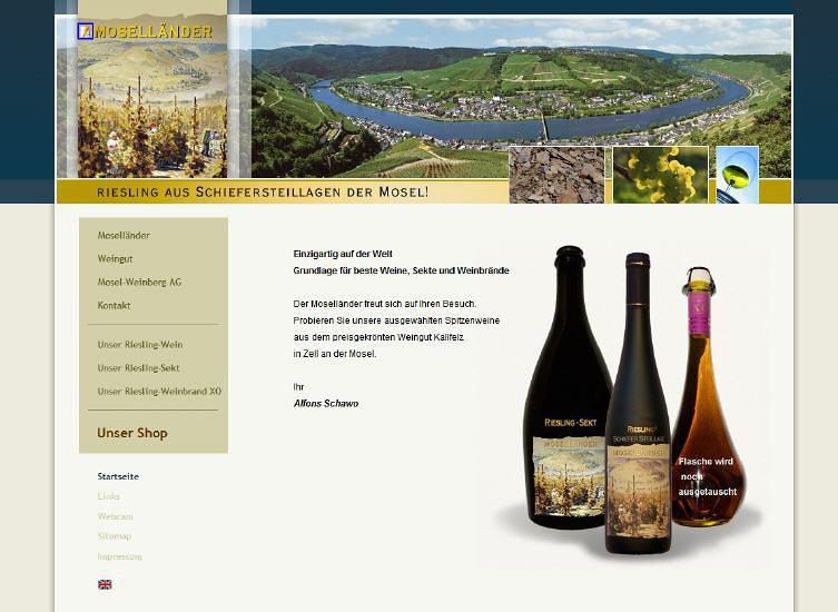 Konzeption einer Webseite für den Weinhandel