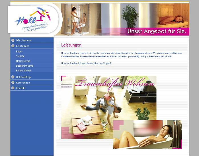 Konzeption und Entwicklung der Webseite der Holl Energietechnik GmbH