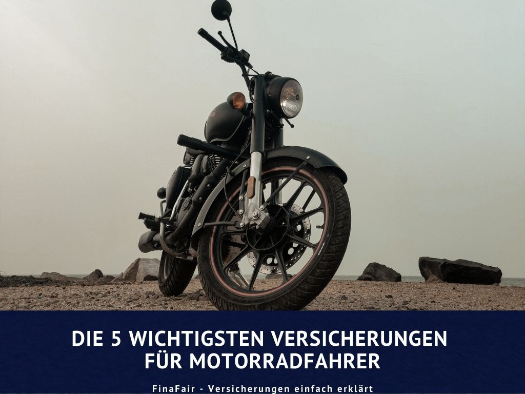 Motorradunfall: Die 5 wichtigsten Versicherungen für Motorradfahrer
