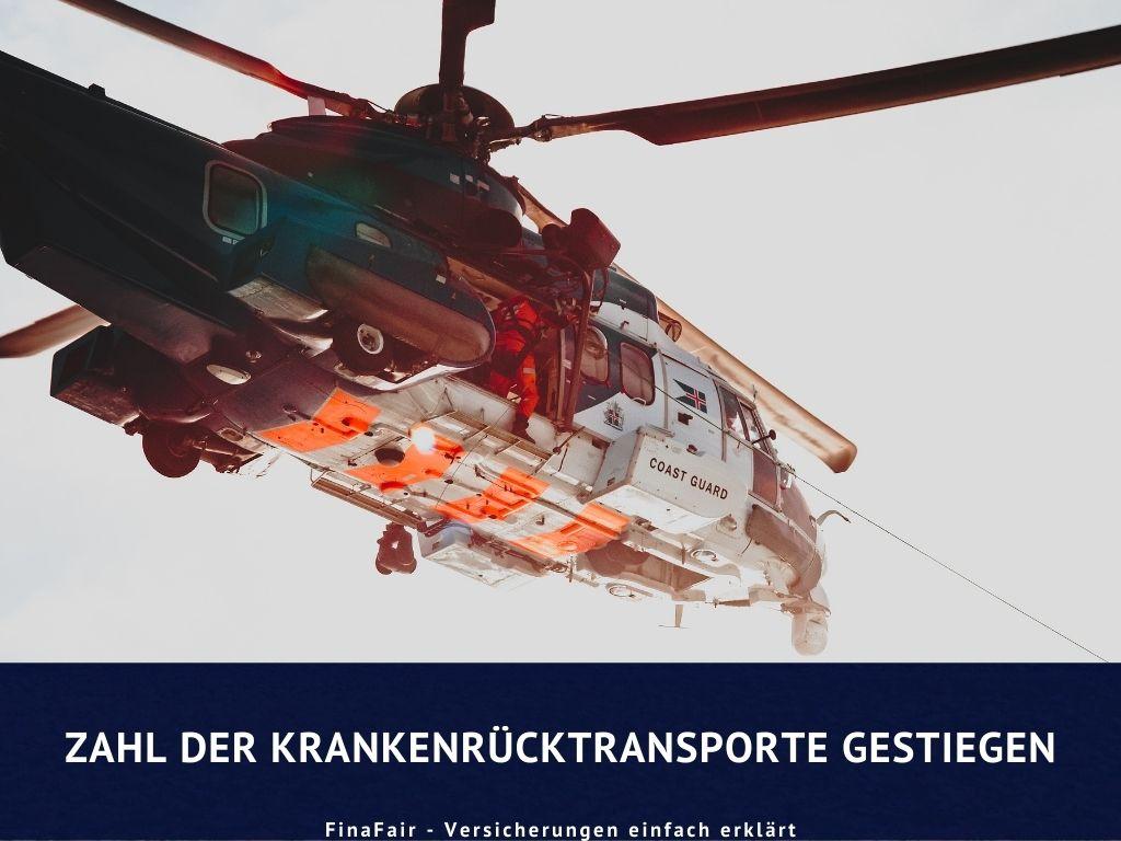 Zahl der Krankenrücktransporte gestiegen