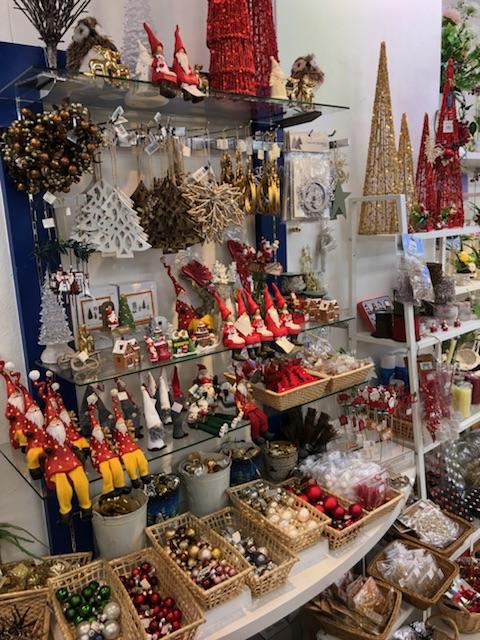 クリスマス小物コーナー