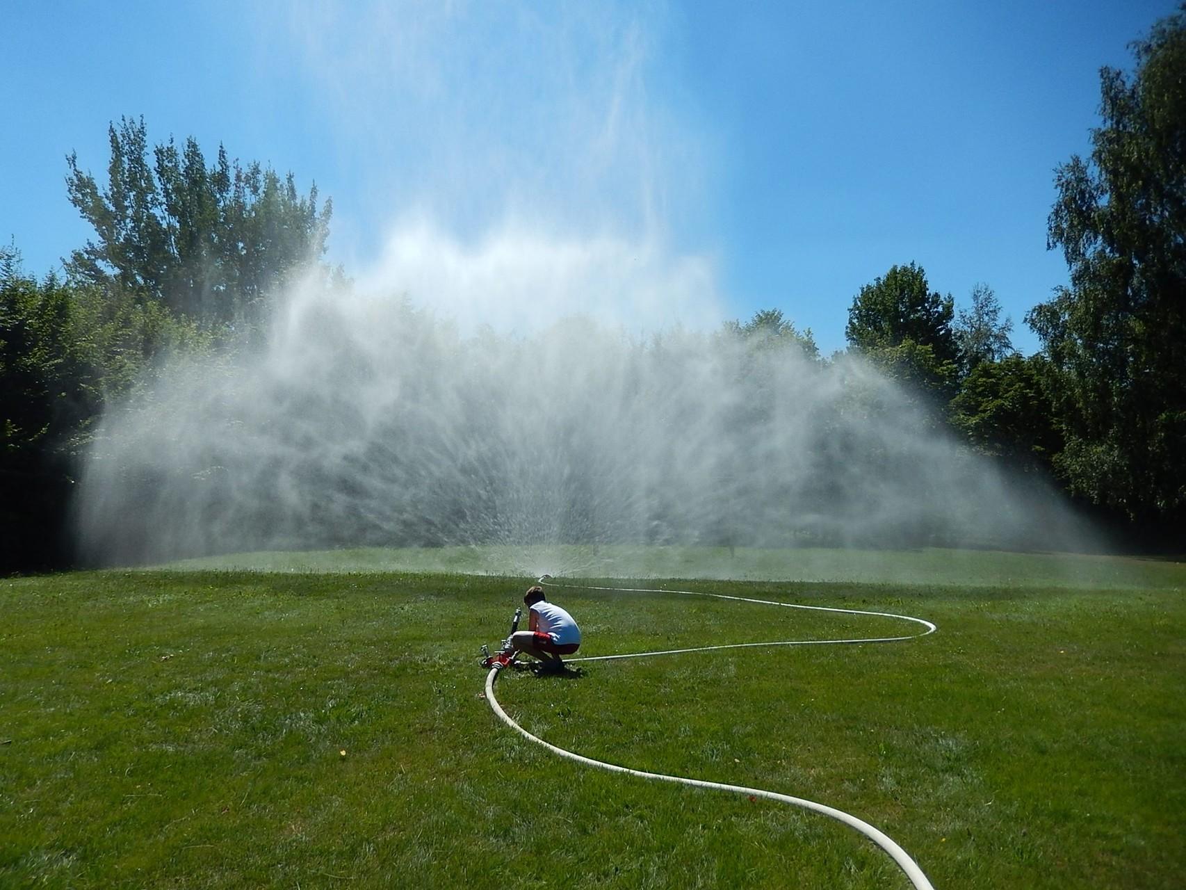 Hydroschild (Größe B & C): Wird verwendet um Gebäude, Objekte, ... vor angrenzenden Bränden zu schützen.