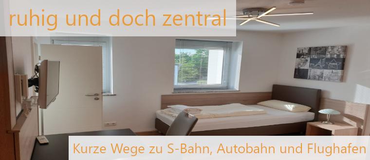 Elodie Serviced Apartments bei München liegen in der Nähe von Autobahn-Zufahrt, S-Bahn und Flughafen