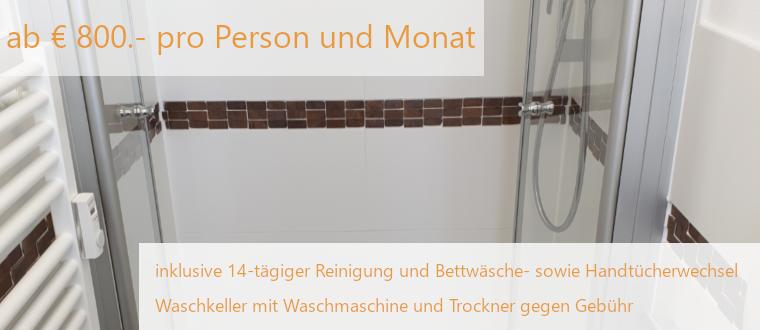 Elodie Serviced Apartments ab 800€ pro Person und Monat; inkl. 14tägiger Reinigung und Wäschewechsel