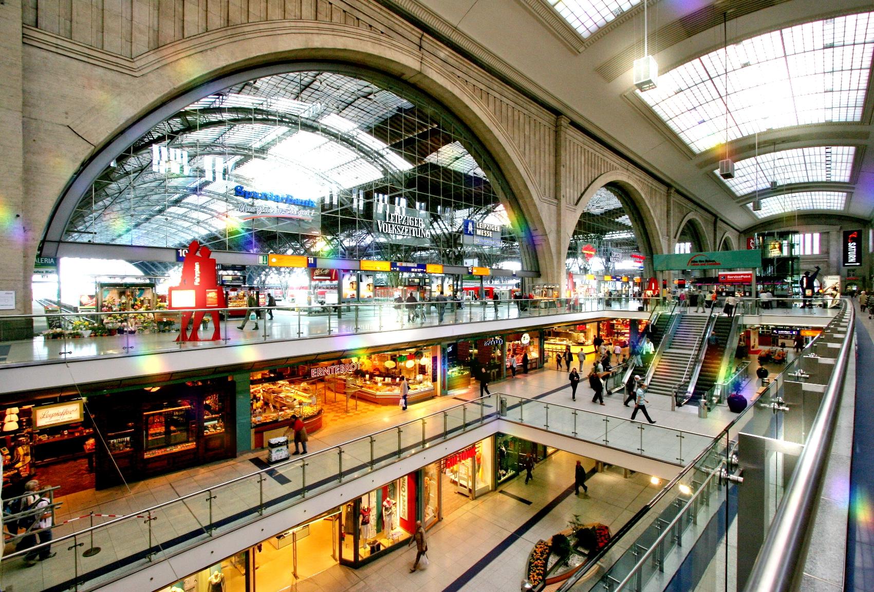 Leipzig Hauptbahnhof und Einkaufserlebnis
