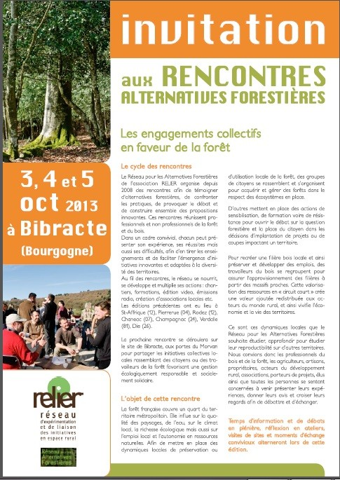 Programme des rencontres alternatives forestières