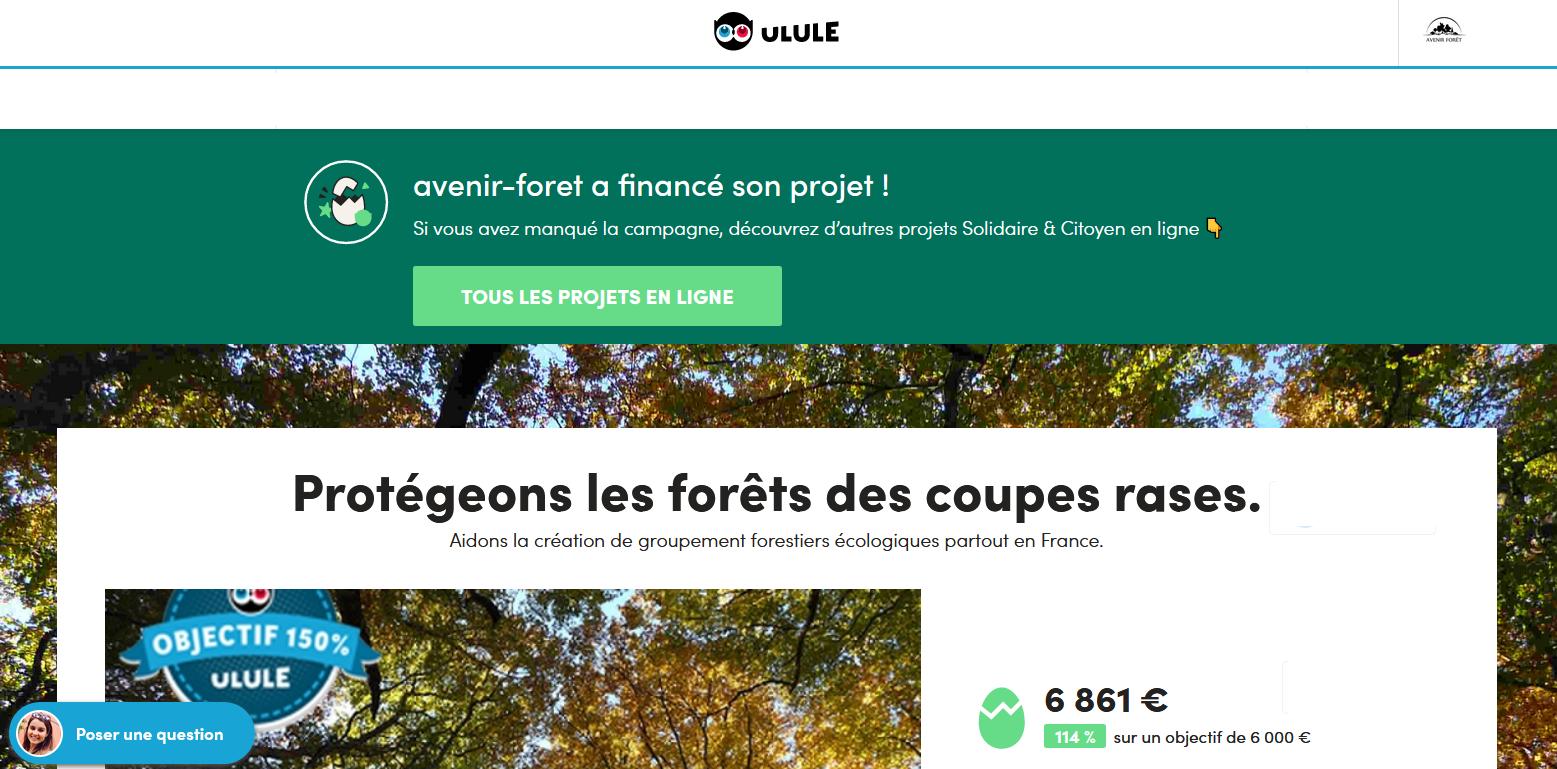 Succès de notre financement participatif Ulule