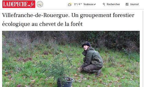 Un bel article sur Avenir Forêt dans le quotidien La Dépêche