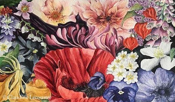 Millefiori I, aquarelle / watercolor