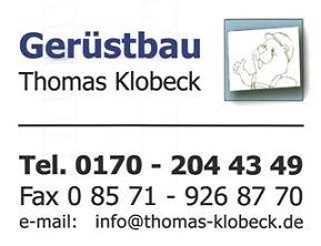 Gerüstbau Thomas Klobeck aus Julbach