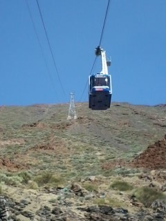 Cable car to Volcano El Teide, Tenerife
