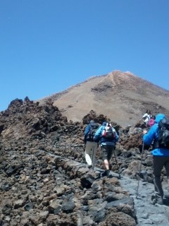 Walking to the top of El Teide, Tenerife