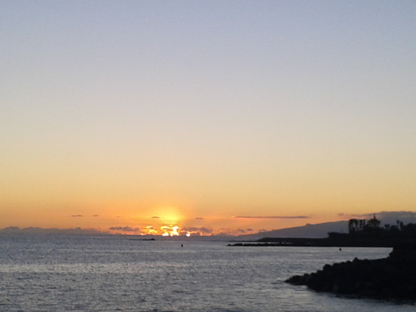 Sunset, Puerto de la Cruz.  Tenerife