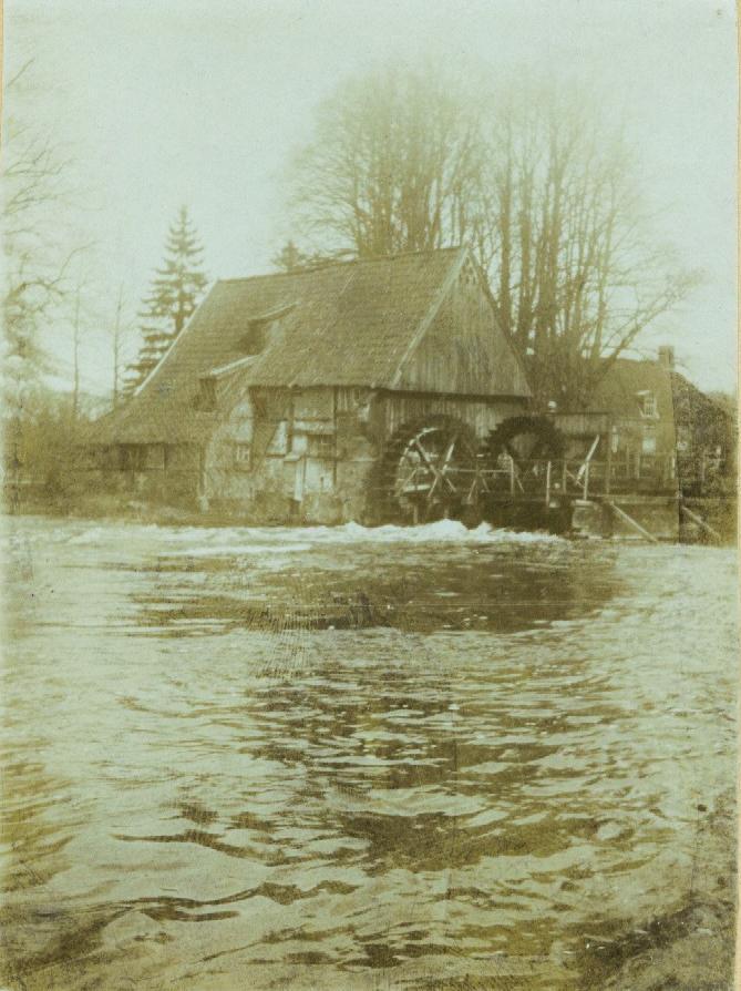 Wassermühle Lage um 1890