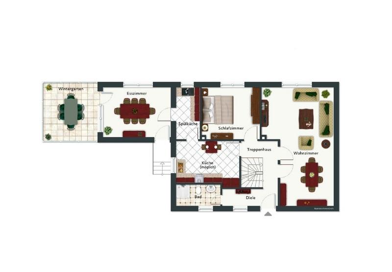 Grundriss Erdgeschoss - nicht maßstabsgetreu