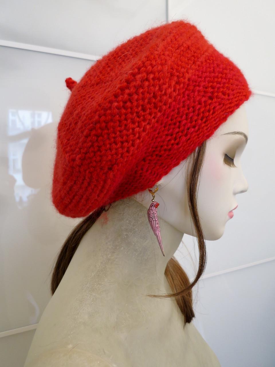 Mütze Lis aus Angora und Schurwolle