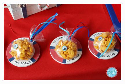 Galletas en forma de pecesitos.