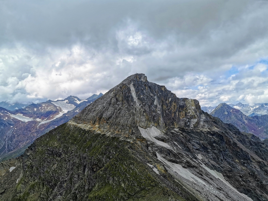 """Ein letzter Blick auf """"unsere"""" Weißwandspitze"""