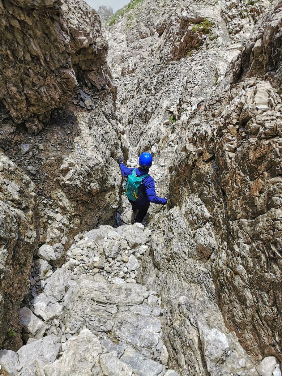 Abstieg vom Widderstein