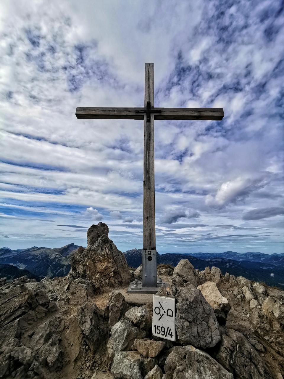 Am Gipfel der Kanzelwand