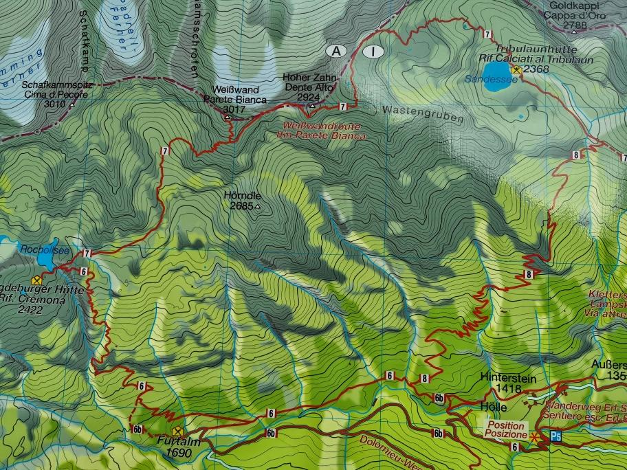 Unsere Tour nochmal auf der Karte