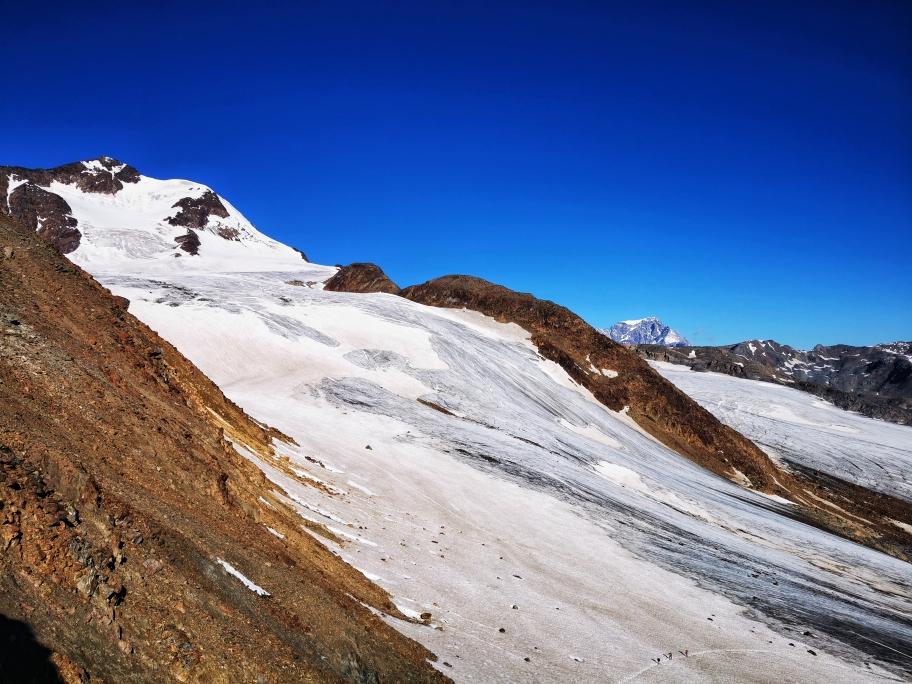 Blick zurück auf den Gletscher