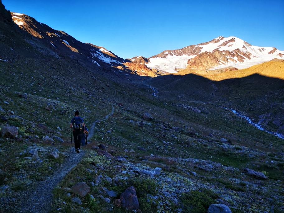 Auf dem Weg Richtung Gletscher