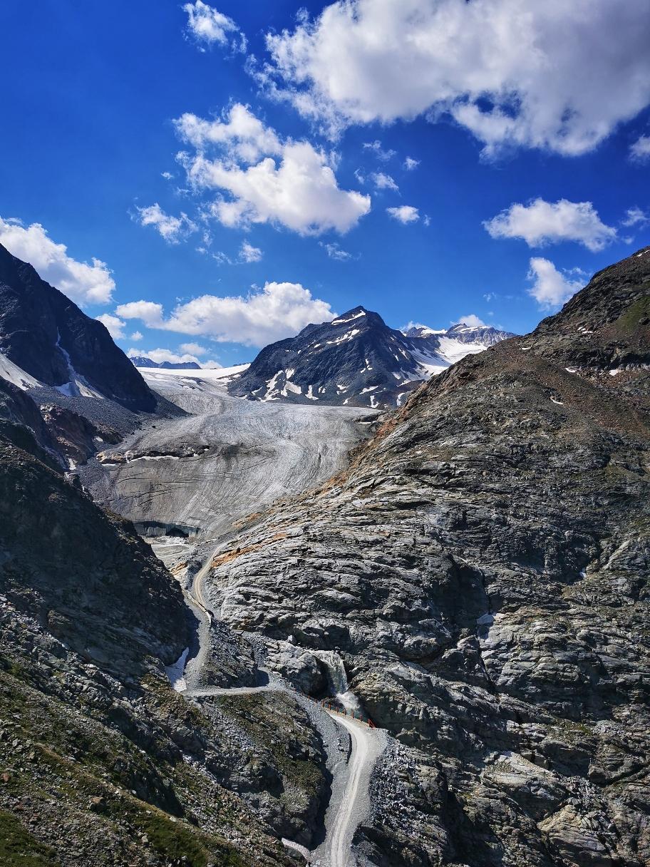 Der Gletscher kommt in Sicht