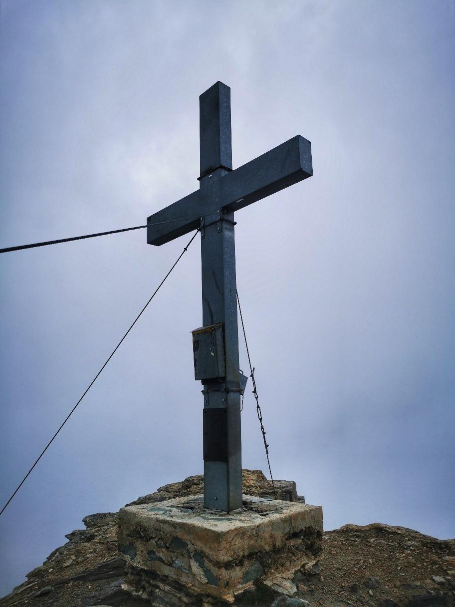 Keine Aussicht am Gipfel des Säulkopf (3.209m)