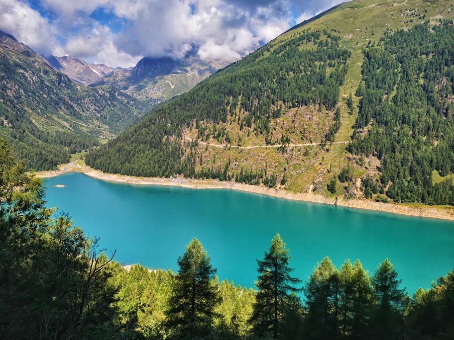 Tolle Aussicht auf den Lago Pian Palü...