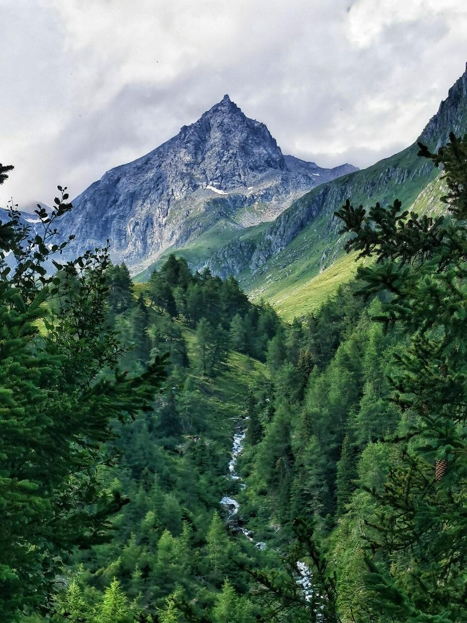 Die steile Spitze des Säulkopf 3.209m, die morgen auf unserem Plan steht