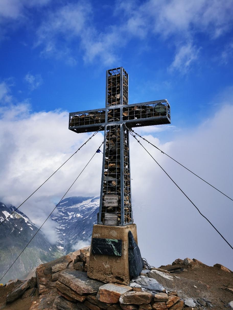 Am Gipfel der Kreuzspitze (3.155m)