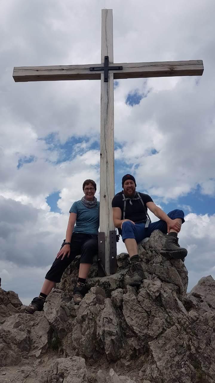Am Gipfel der Kanzelwand (2.058m)