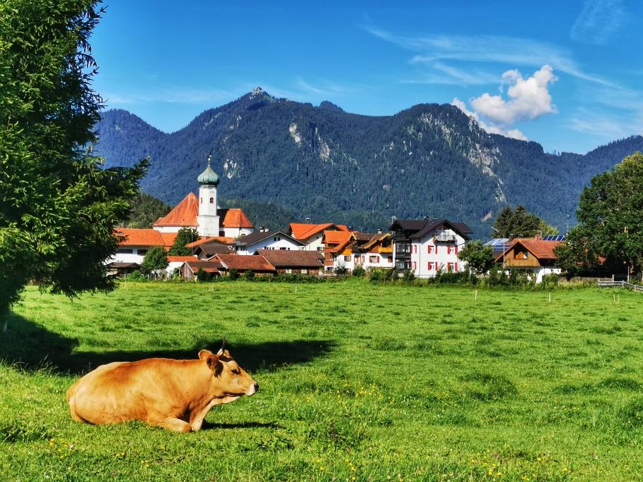 Postkartenidylle in Eschenlohe