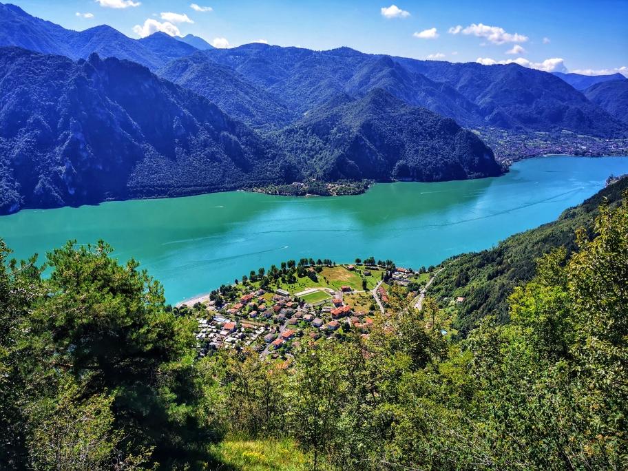 Blick auf Anfo und den Lago d'Idro