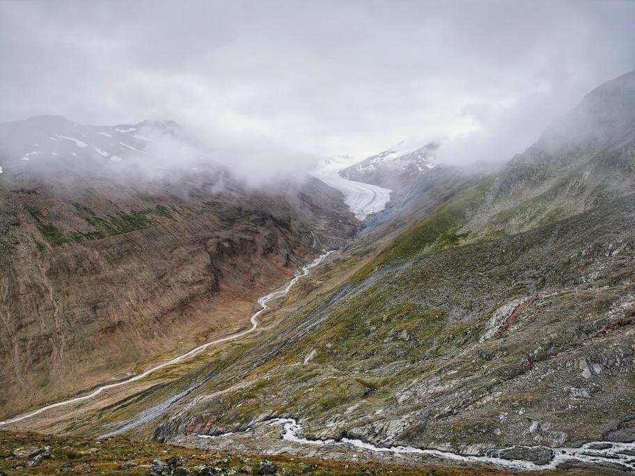 Zunächst noch Gletscher...