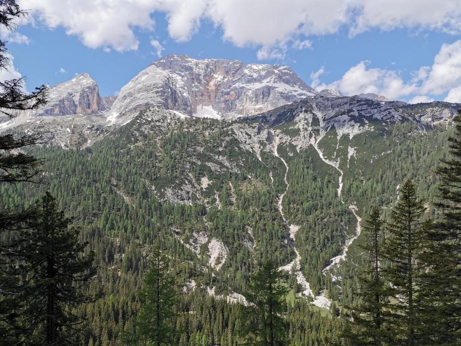 Die 3.146m Hohe Gaisl kommt ins Blickfeld