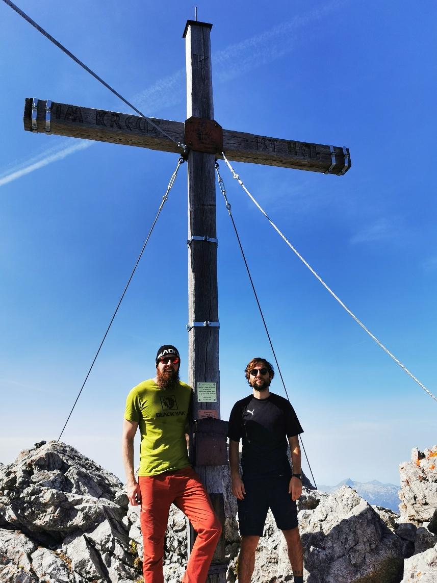 Am Gipfel der Mädelegabel auf 2.645m