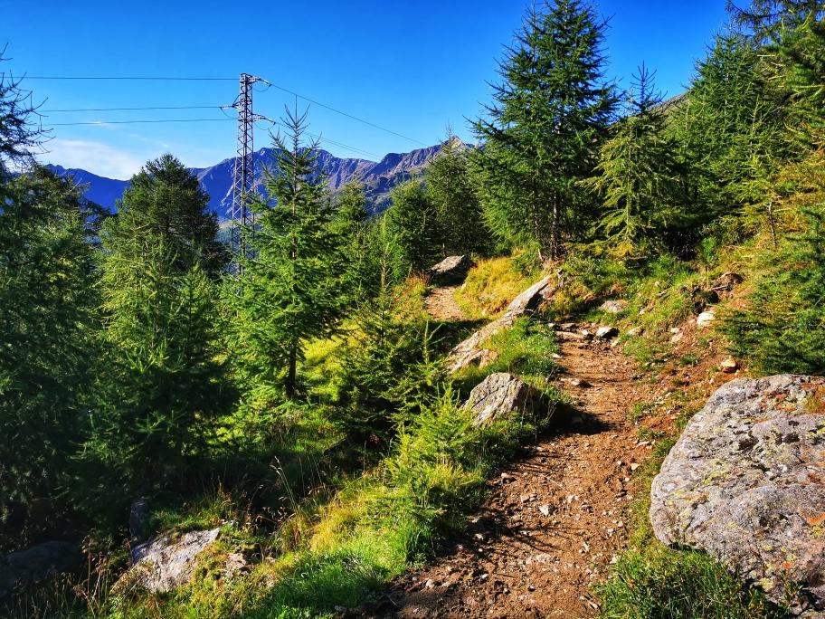 Der Weg von Kurzras nach Vernagt