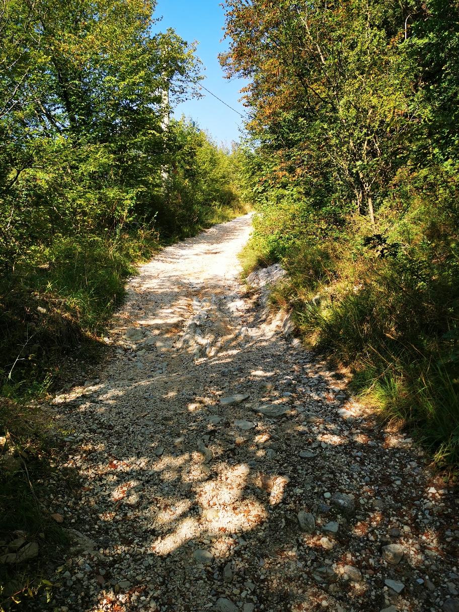 Auf dem Weg zum Monte Bartolomeo