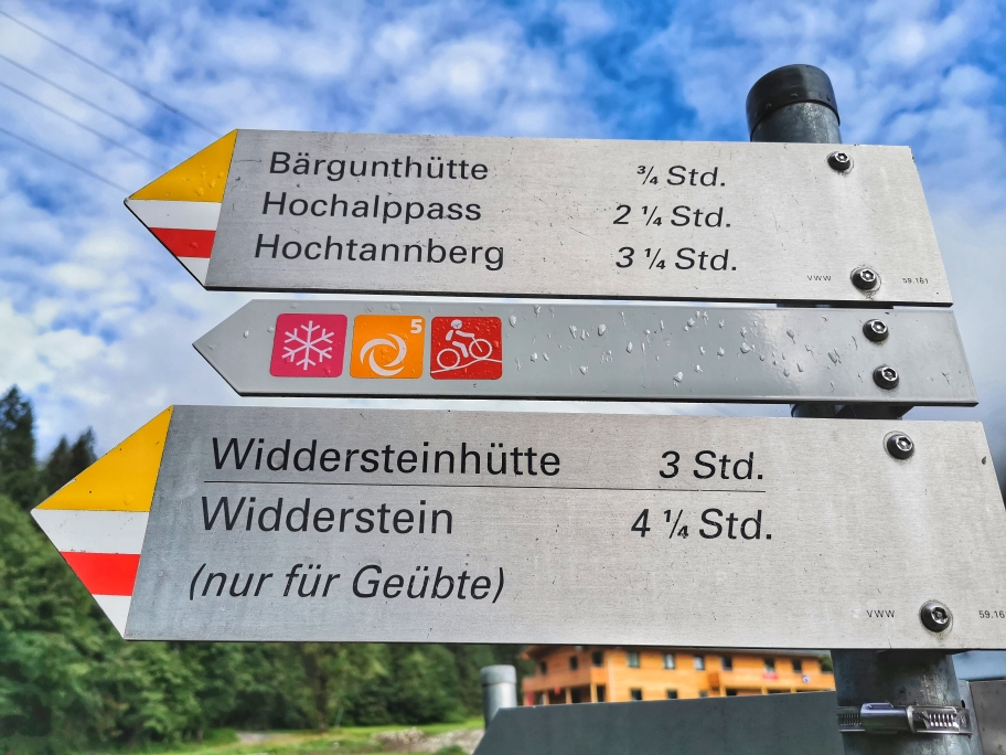 Unser Ziel für heute: Widderstein