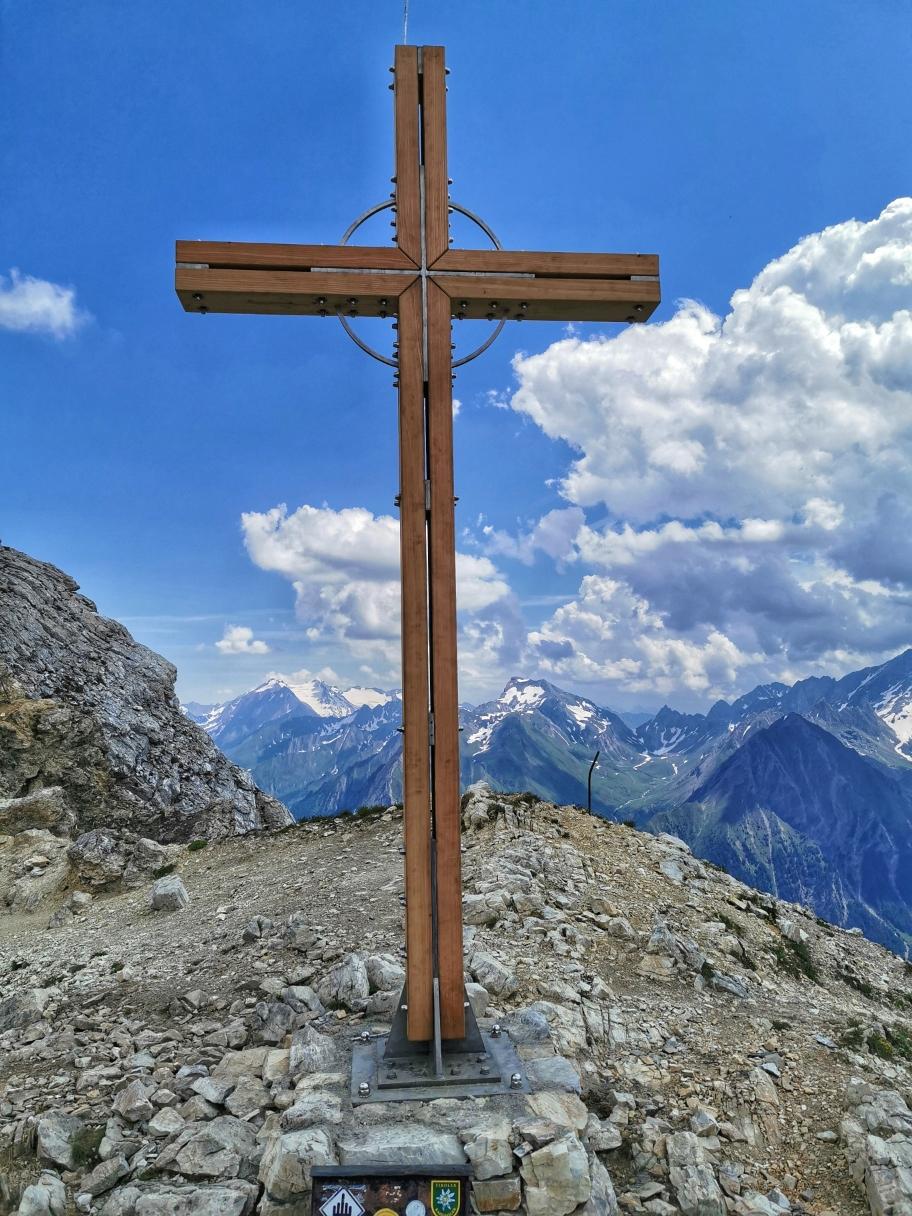 Höchster Punkt der heutigen Tour, der Gipfel der Weißspitze auf 2.714m