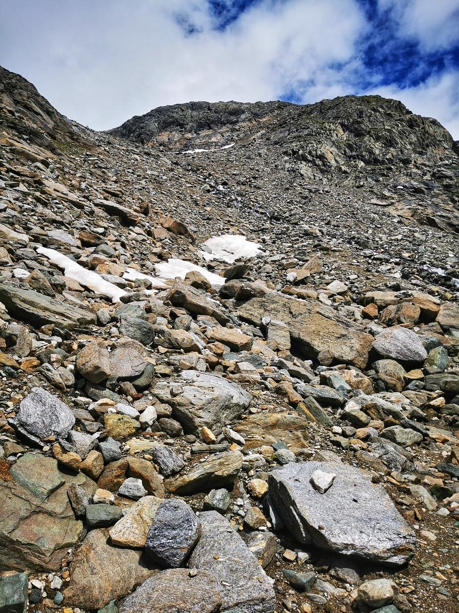 Felsiger Aufstieg Richtung Seewandspitze