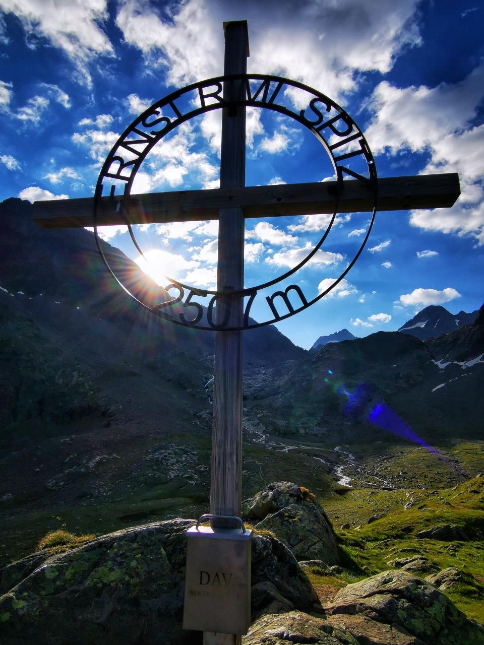 Am Gipfel der Ernst-Riml-Spitze auf 2.507m